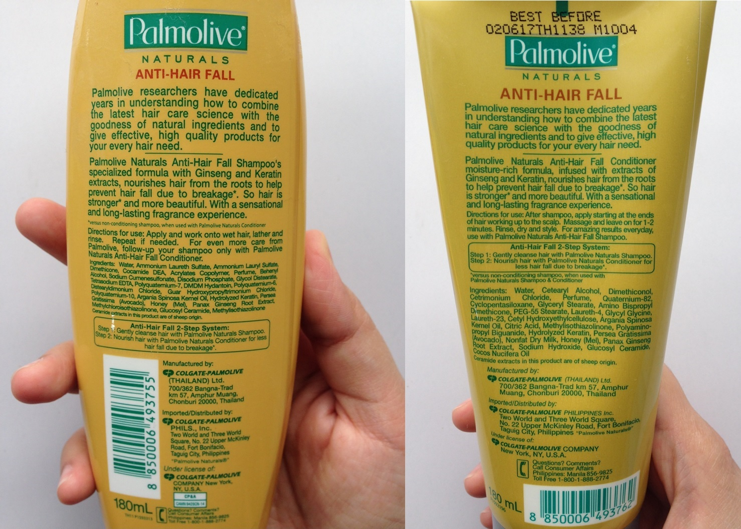 Palmolive Naturals Anti Hair Fall Shampoo And Conditioner Mommy