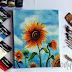 Sunflower (bunga matahari) | Lukisan Acrylic #1