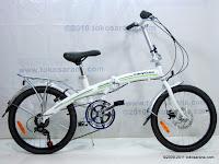 1 Sepeda Lipat FORWARD Rangka Aloi dengan Rem Cakram 20 Inci