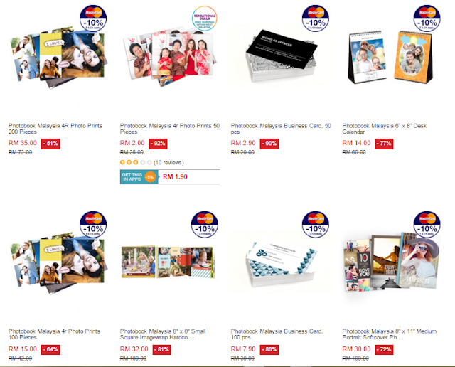 Promotion on all kinds of Photobook Malaysia Products - Photobook, Namecard, Calendar, Notebook, 4R Print and etc