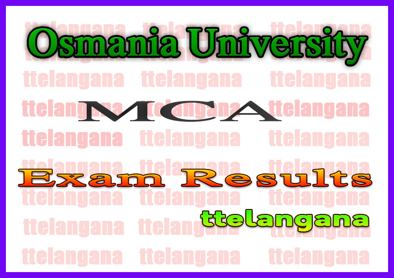 Osmania University MCA 1st Sem Regular Supply Results