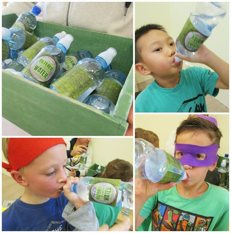 TMNT Party - bouncing is thirsty work - free printable water bottle labels