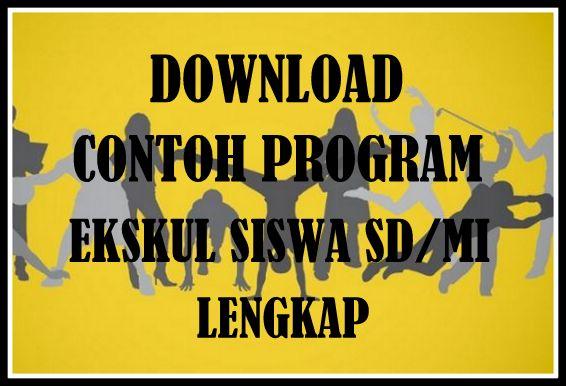 Download Contoh Program Ekstrakurikuler Siswa SD/MI Lengkap Terbaru