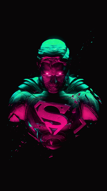 superman wallpaper for amoled screen phone in 1080 x 1920 pixels