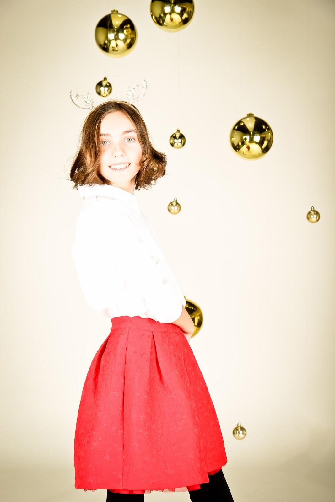 falda de tablas, falda fruncida, falda con vuelo, crepé, volante de tul