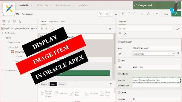Display Image Item in Oracle APEX - Javainhand Tutorial