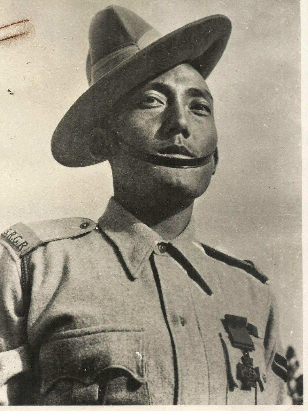 Portrait of an Indian Soldier, Press Information Bureau Photograph