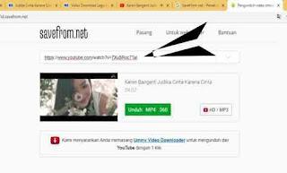Cara Mudah Unduh Video Youtube via SaveFrom net