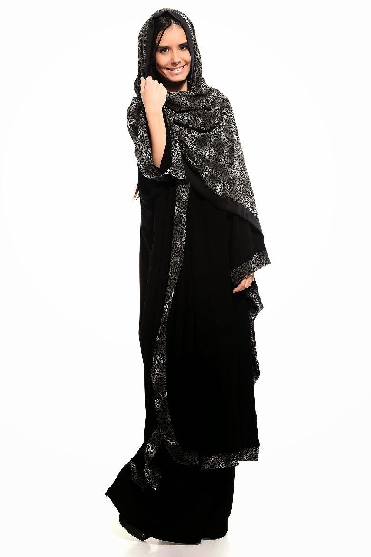 Colored Abaya Collection 2014 2015 Arzu Ergen Black
