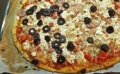 Griechische Pizza