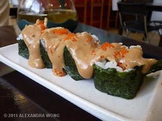D'Bento Sushi soft-shell crab futomaki