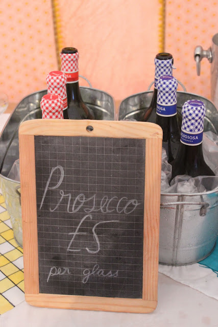 Specially imported prosecco, red and white, from La Gioiosa