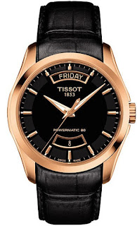 TISSOT Couturier Powermatic 80 T035.407.36.051.01 Black Leather Strap