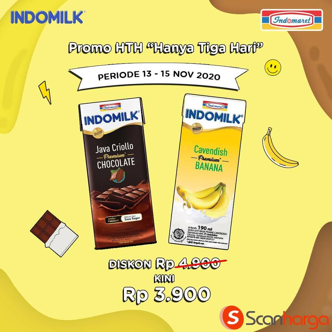 Indomaret Promo HTH: Diskon Spesial Indomilk UHT 109 ml Harga cuma Rp 3.900*