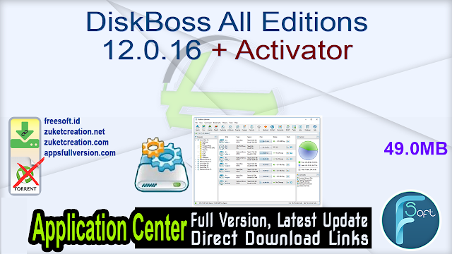 DiskBoss All Editions 12.0.16 + Activator