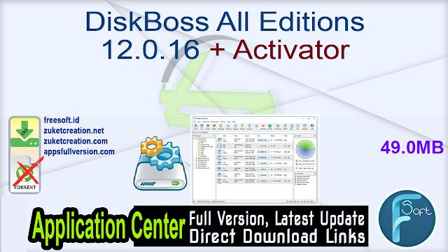 DiskBoss All Editions 12.0.16 + Activator
