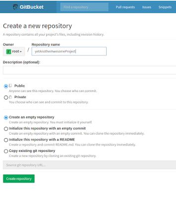 GitBucket new repository