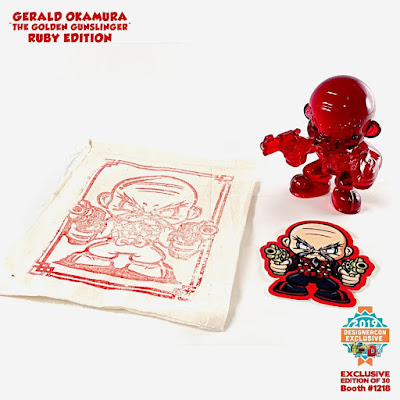 Designer Con 2019 Exclusive The Golden Gunslinger Ruby Edition Resin Figure by Hyperactive Monkey x Gerald Okamura