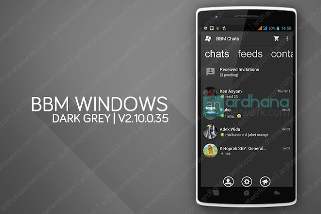 BBM Windows Phone Dark Grey - BBM Android V2.10.0.35