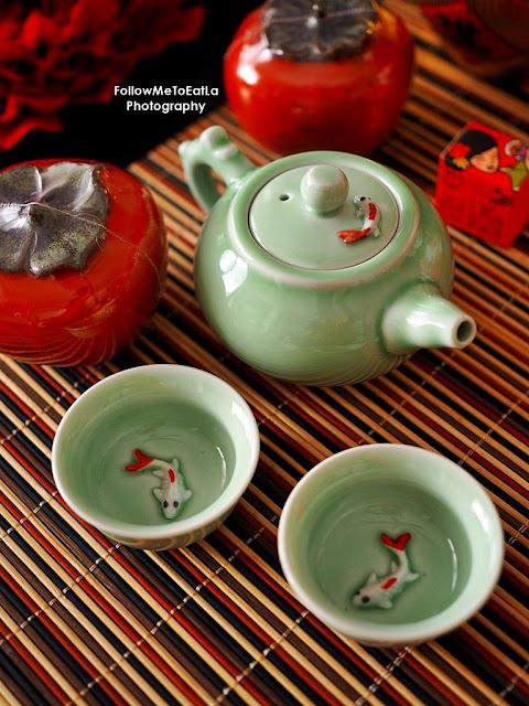1 pc Celadon Tea Pot & 2 pcs Celadon Tea Cups