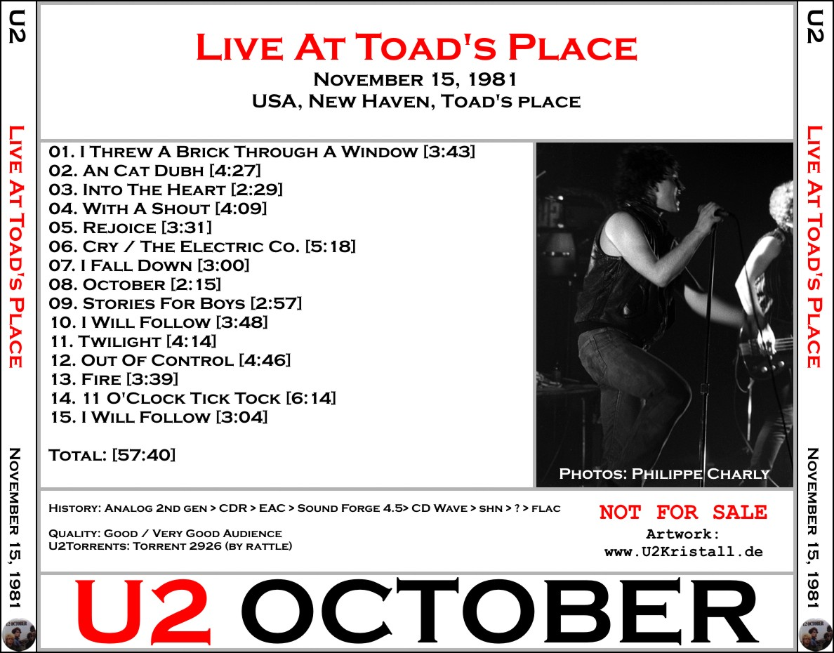 U2 [1981 11 15] Live At Todd's Place (Upgrade) [VG-AUD@192