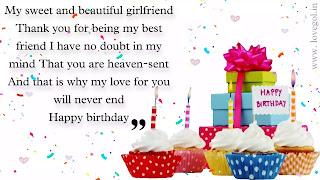 heart touching birthday wishes for girlfriend
