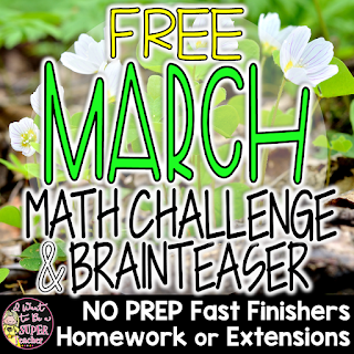 Two FREE math activities for 2nd and 3rd grade kids teachers can use during the month of March! These free printables are perfect for math centers, morning work, homework, or number talks. Includes a St. Patrick's Day math challenge & March Madness math brainteaser for students. Fun for kids and NO PREP for teachers. Just print and go! Click for the free download. #free #math #education #secondgrade #thirdgrade #stpatricksday #marchmadness