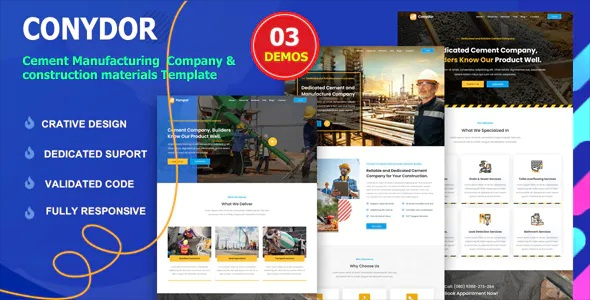 Best Cement Manufacturing Factory HTML Template