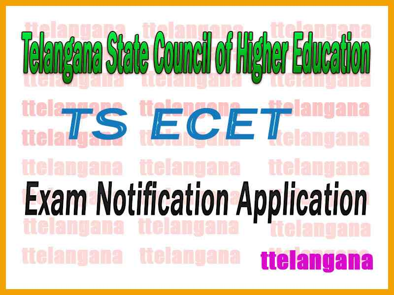 TS ECET Telangana State Engineering Common Entrance Test Notification Application Time Table