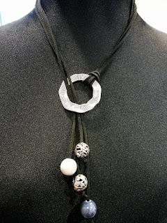 rawhide straps pendant