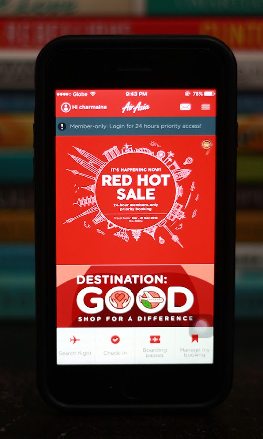 MISS LITRATISTA: BOOK A FLIGHT WITH AIR ASIA'S RED HOT SALE!