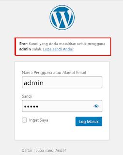 Gambar lupa password di wordpress offline dan online