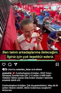 Turki Juara Olimpiade, Erdogan Langsung Telepon Sang Juara dan Beri Selamat