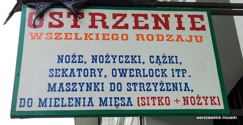 Warszawa Warsaw retro szyld warszawskie szyldy strzyżenie