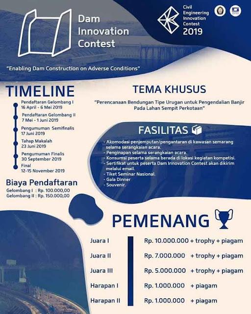 Lomba Inovasi Desain Nasional Dam Innovation Contest 2019 Mahasiswa