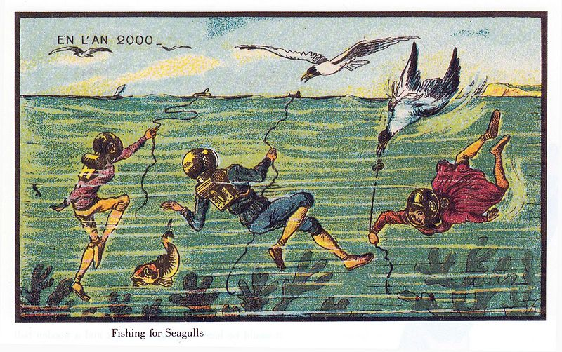 20-Fishing-for-Seagulls-Jean-Marc-Cote-En-L-An-2000-wikimedia-Futurism-with-Illustrated-Postcards-from-the-1900s-www-designstack-co