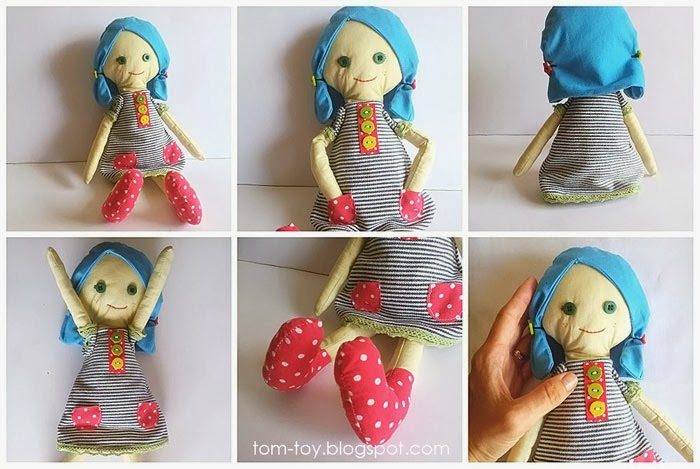 Blue hair doll