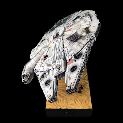 Completed Bandai Millennium Falcon 1/144 Front View
