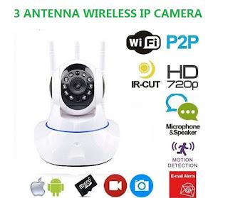 ip camera con 3 antenna