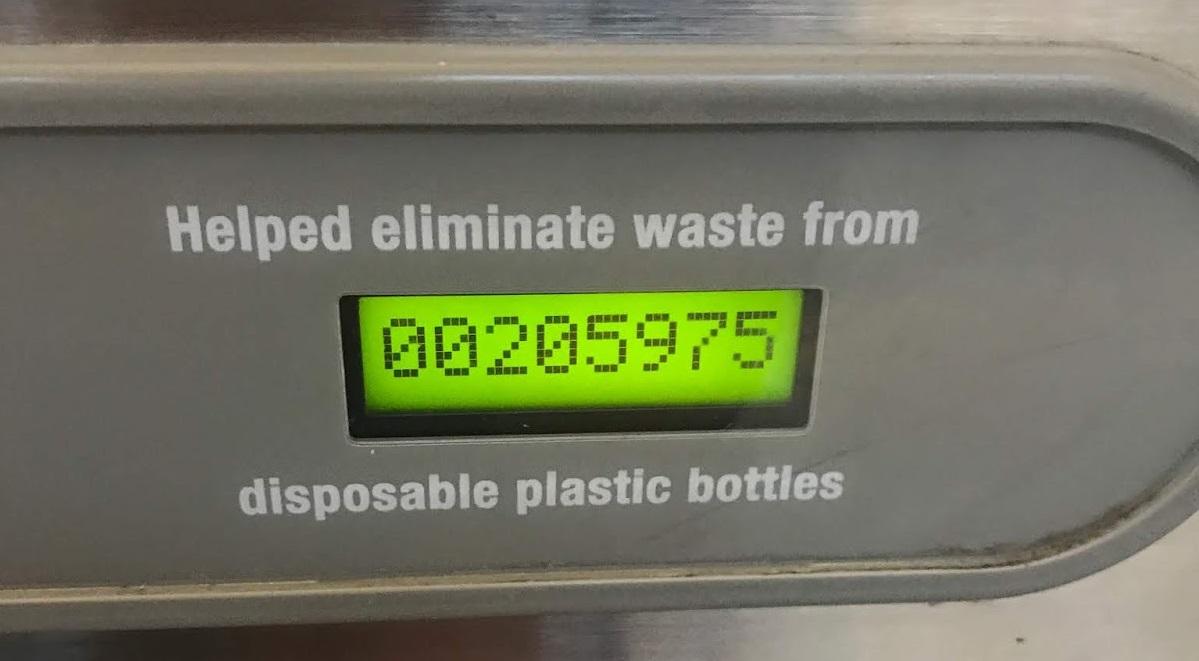 contador de quantas garrafas o bebedouro encheu