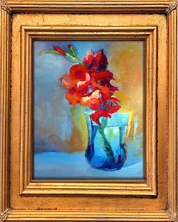 Sample framed oil painting giveaway by C. Twomey