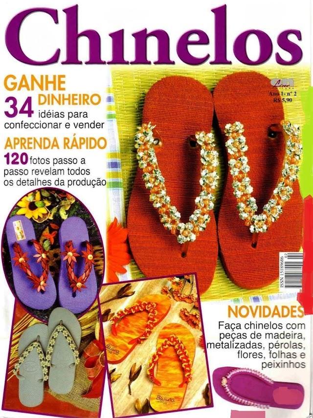 Chinelos Decorados-Revista