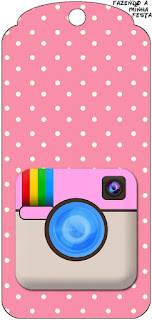 Instagram Party Free Printable Tags.