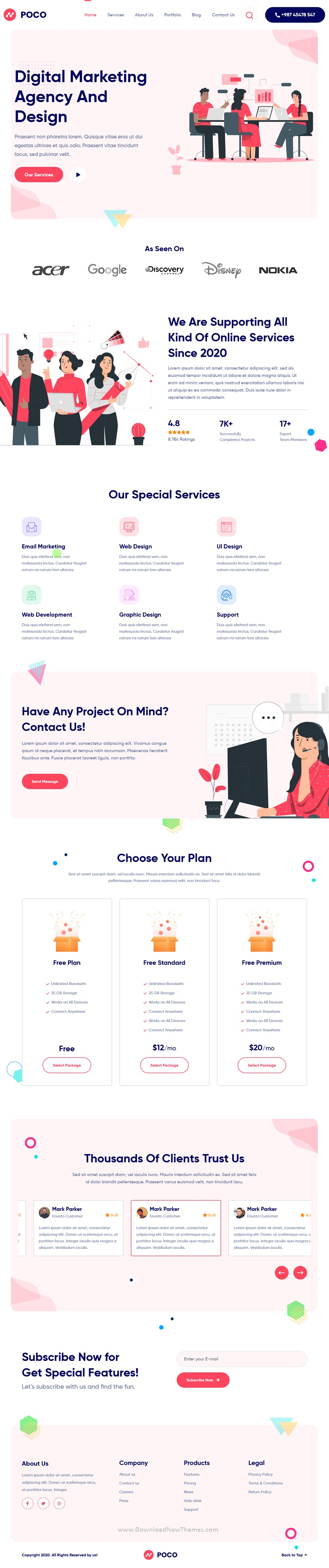 Bootstrap 4 Agency HTML Template