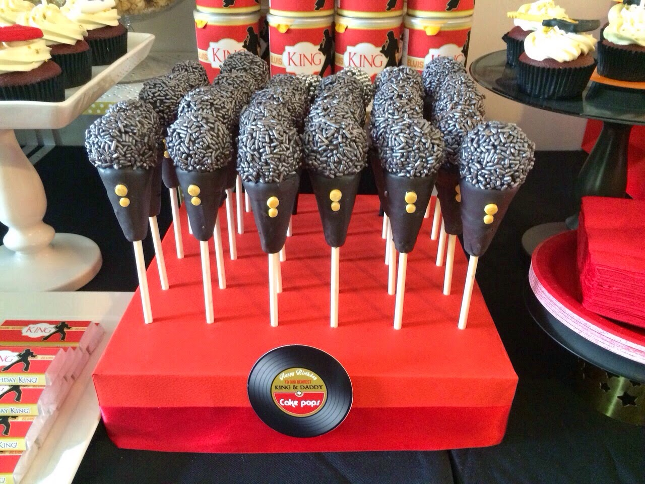 Microphone Cake Pops On A Homemade Stand