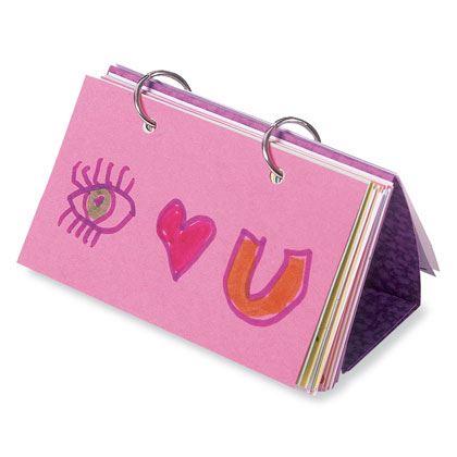 Craft: Love Note Flip Book
