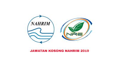 Jawatan Kosong NAHRIM 2019 Institut Penyelidikan Hidraulik Kebangsaan Malaysia