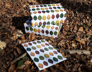 Leaf wrapping paper by Alice Draws The Line