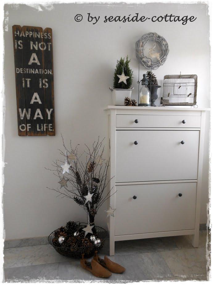 seaside cottage weihnachtliches treppenhaus teil i. Black Bedroom Furniture Sets. Home Design Ideas