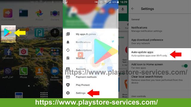 تحديث تطبيقات Android